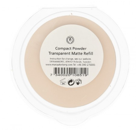 MÅ COMPACT POWDER TRANSPARENT MATT, REFILL